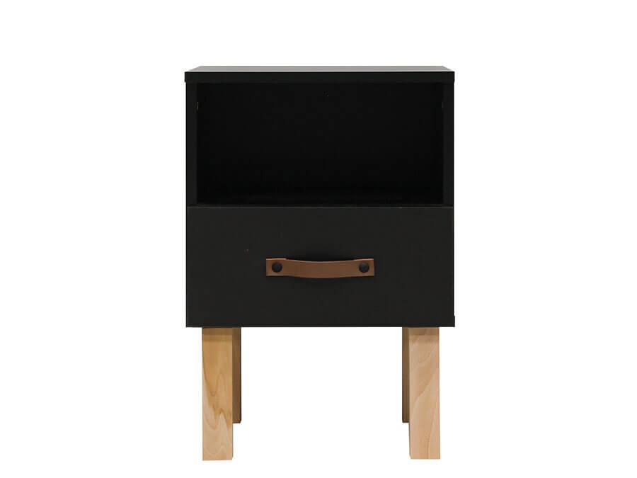 13319719-Bopita-Floris-nachtkastje-mat-zwart-voorkant
