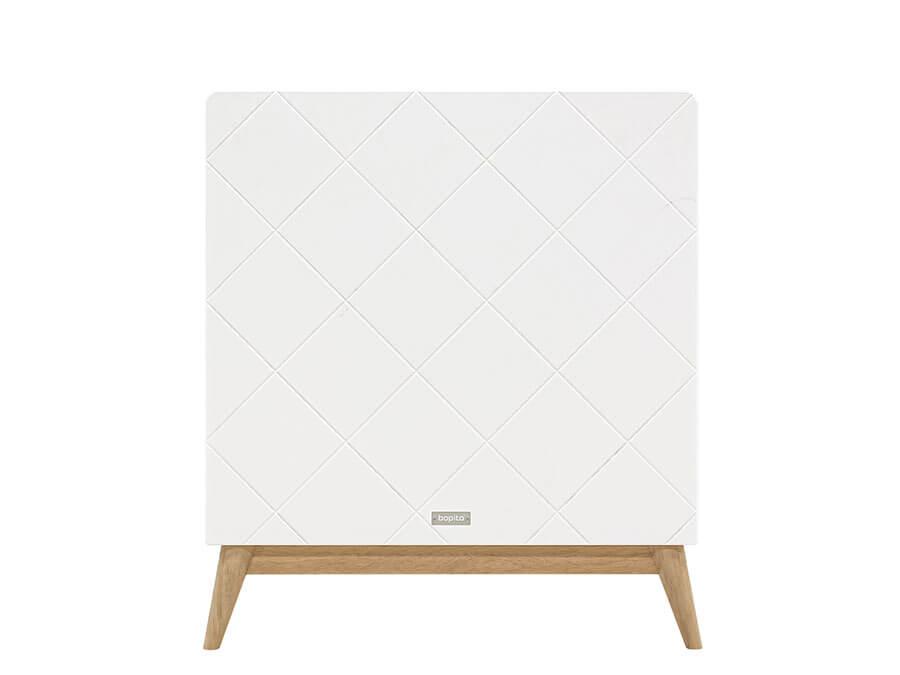16319351-Bopita-Paris-bedbank-70x140-wit-eiken-hoofdbord