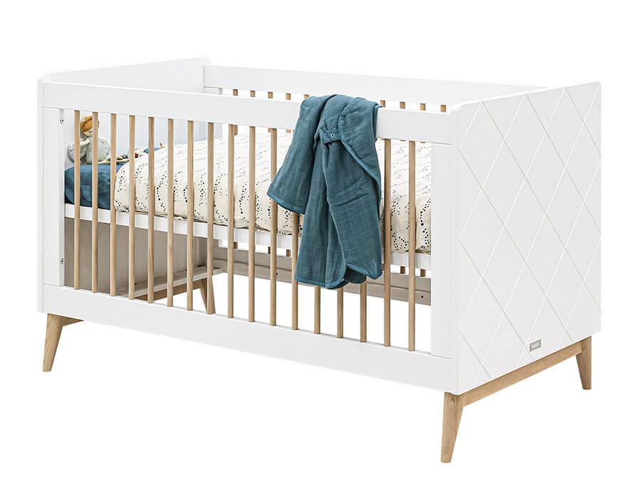 16319351 Bopita Paris bedbank 70x140 wit eiken opgemaakt