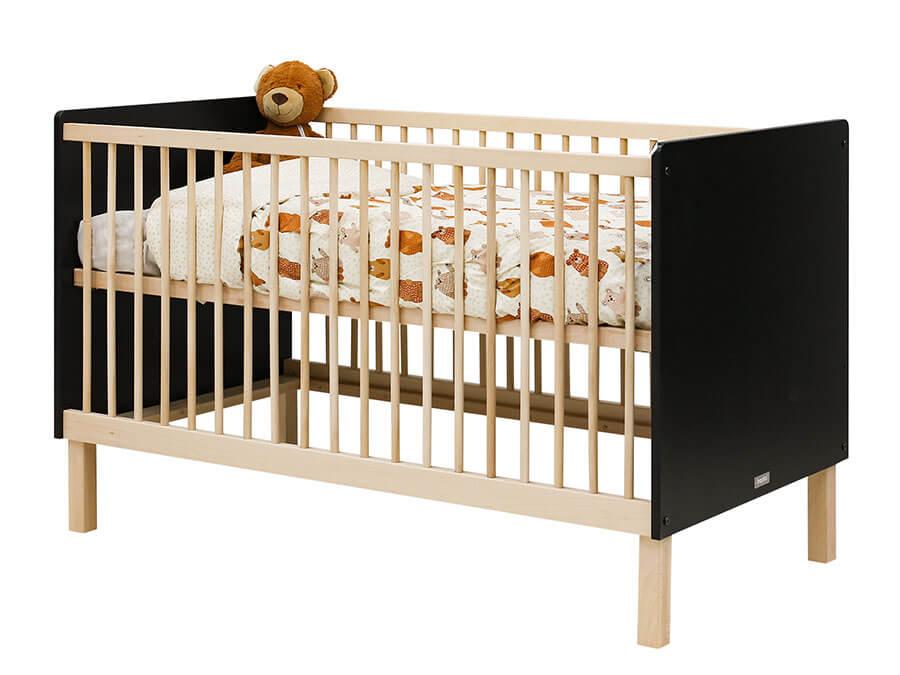 16319719-Bopita-Floris-bedbank-70x140-mat-zwart-ledikant-opgemaakt