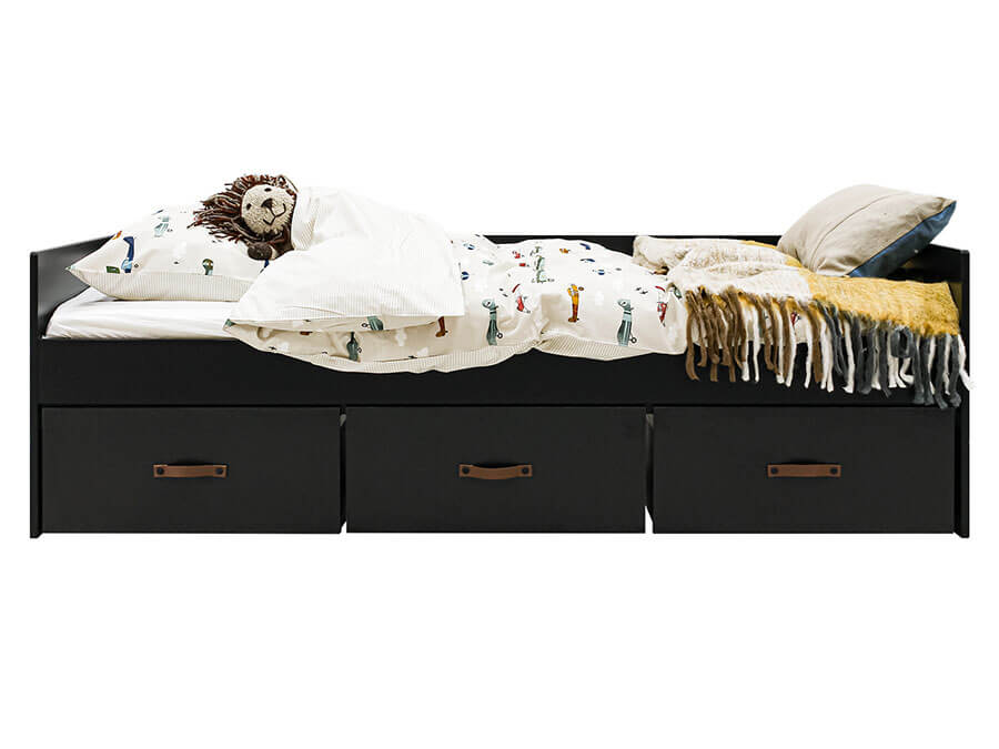 26919719-Bopita-Floris-bedbank-90x200-mat-zwart-zijkant