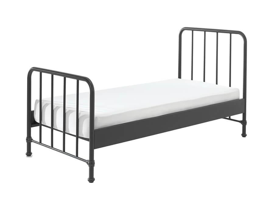 BRBE9007-Vipack-Bronxx-Bed-90X200-zwart-matras