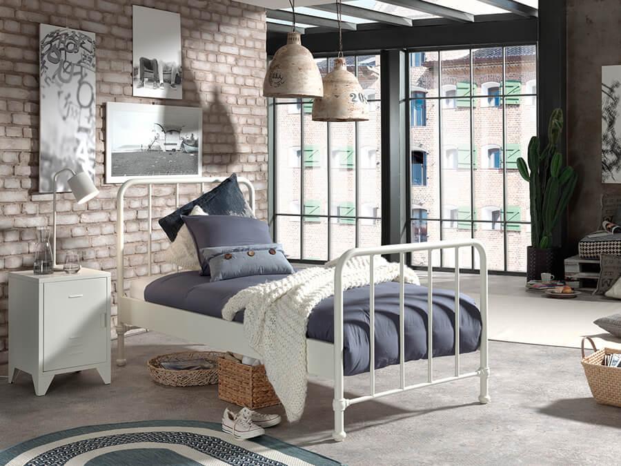 BRBE9014-Vipack-Bronxx-Bed-90X200-Wit-sfeer