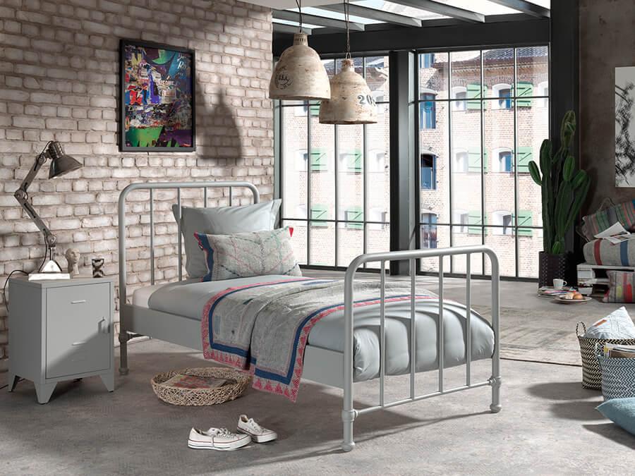 BRBE9015-Vipack-Bronxx-Bed-90X200-Rainy-Grey-sfeer