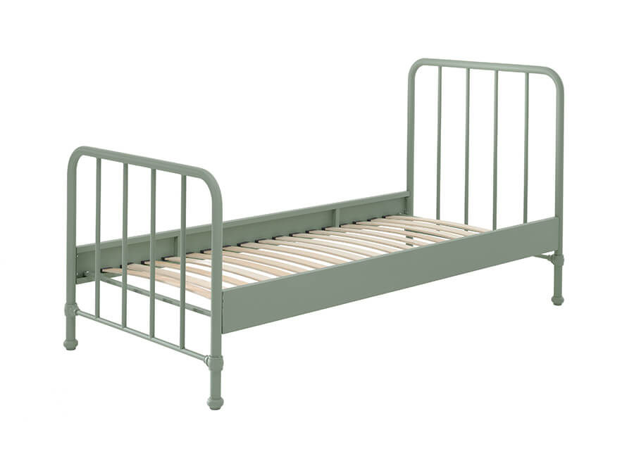 BRBE9093-Vipack-Bronxx-Bed-90X200-Olive-Green