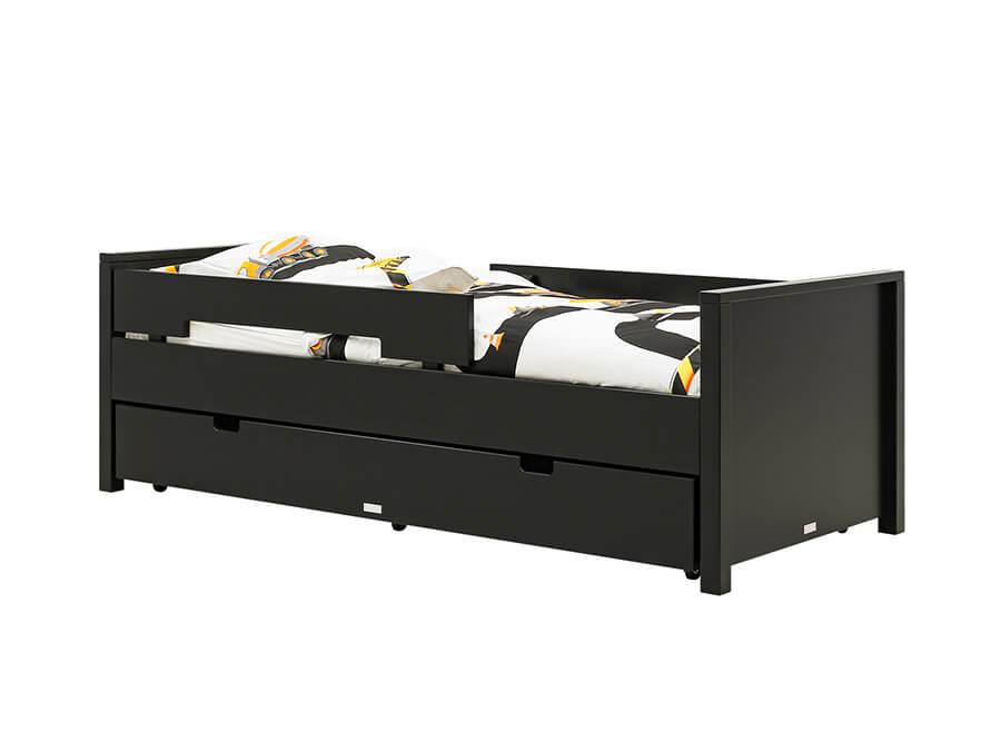 549912-Bopita-Jonne-bed-90x200-mat-zwart-lade