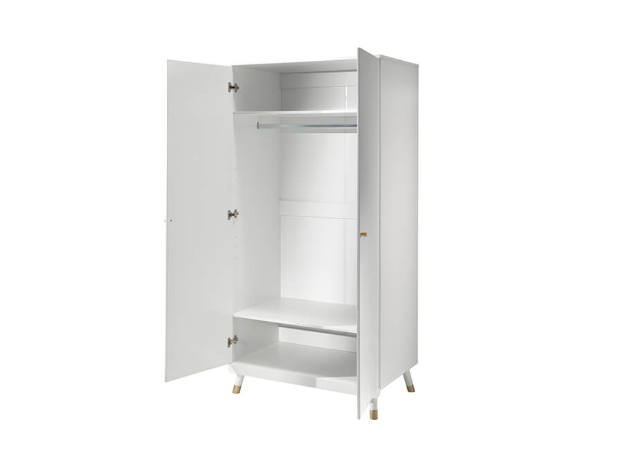 BIKL1214-Vipack-Billy-kledingkast-2-deurs-wit-open