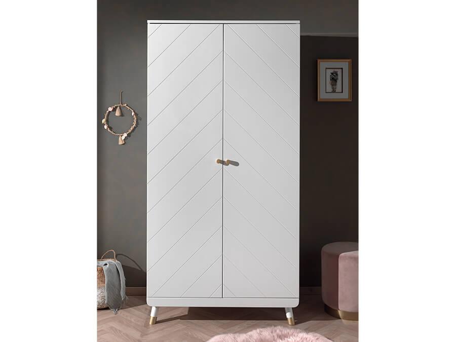 BIKL1214-Vipack-Billy-kledingkast-2-deurs-wit-sfeer