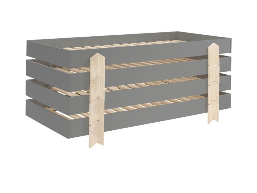 MDCO911514-Vipack-Modulo-bed-Arrow-grijs-4-stuks