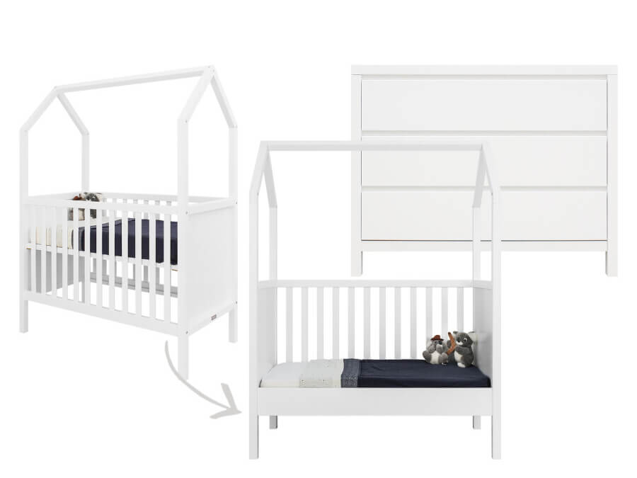 bopita-My-First-House-Corsica-2-delige-babykamer-wit