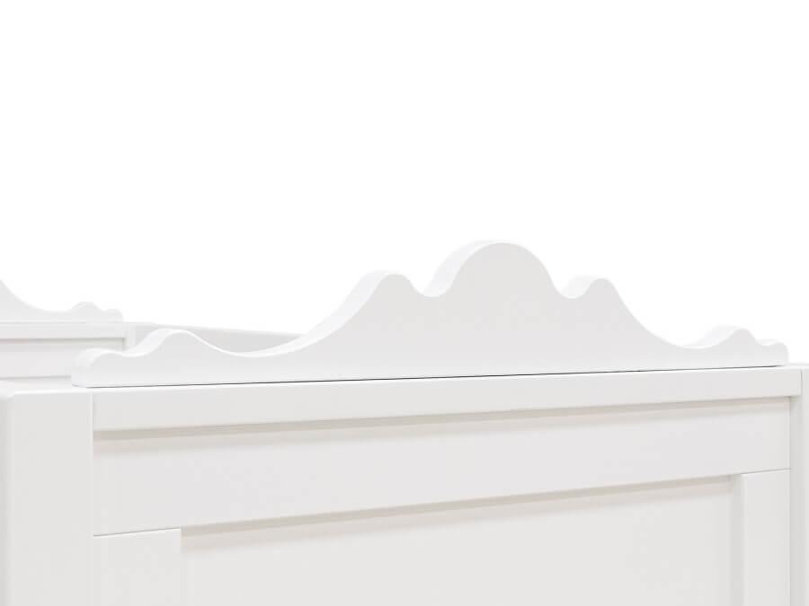 bopita bedbank 70x140 belle wit hoofdbord