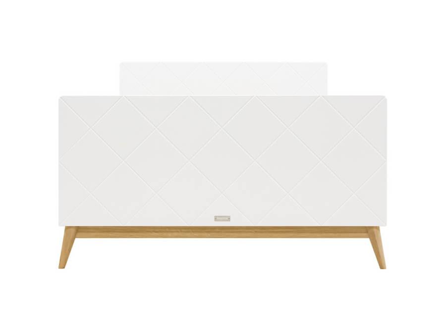 bopita twinbed 120x200 paris wit eiken voetenbord