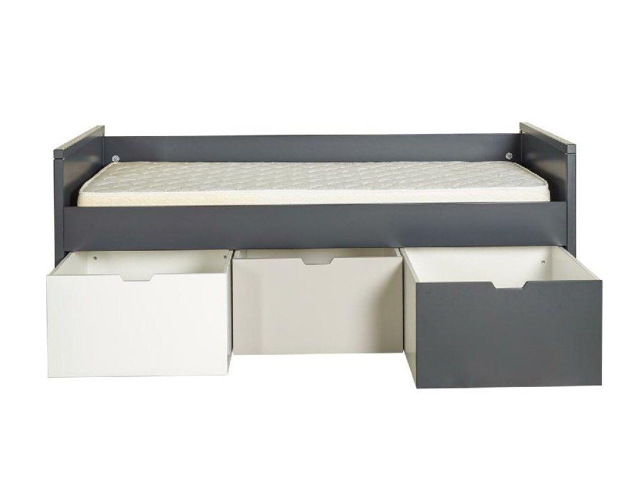 0101Q016 Quax Mini Mezzanine bed 90x200 moonshadow lades