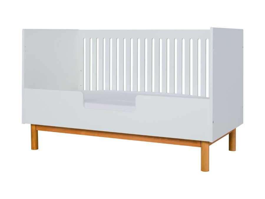 54014822XL Quax Mood ombouwbed 70x140 wit bedbank bedrail 3D