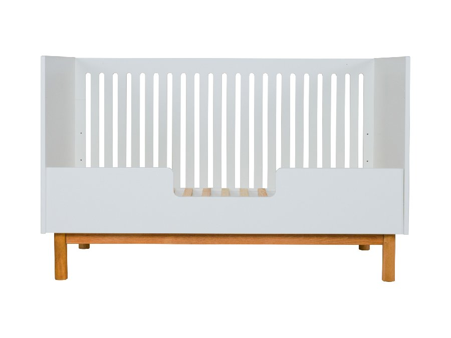 54014822XL Quax Mood ombouwbed 70x140 wit bedbank bedrail