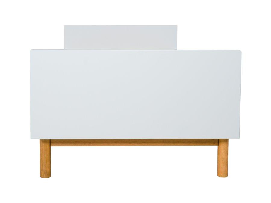54014922 Quax Mood eenpersoonsbed 90x200 wit voetenbord