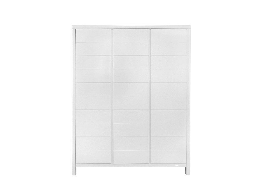 54042514 Quax Stripes 3 deurs kledingkast wit