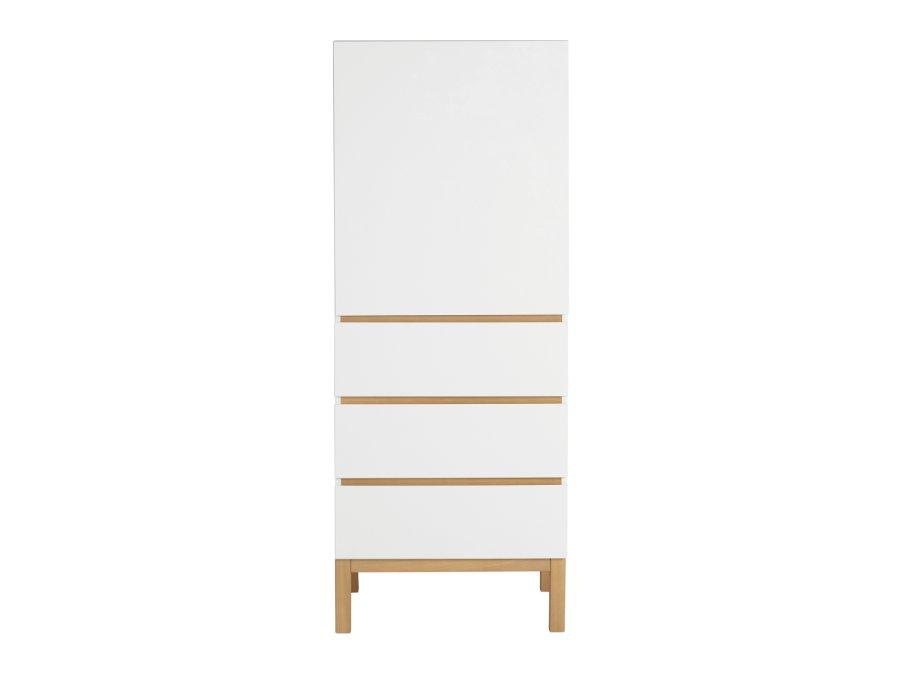 54045414 1D Quax Indigo 1 deurs kledingkast White belichting
