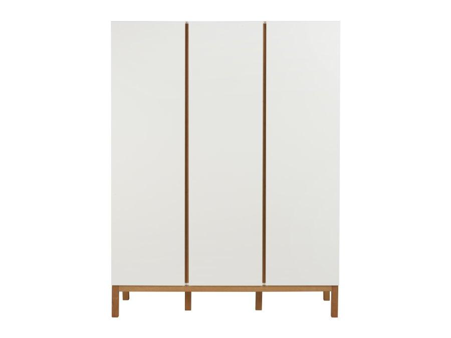 54045414 3D Quax Indigo 3 deurs kledingkast White belichting