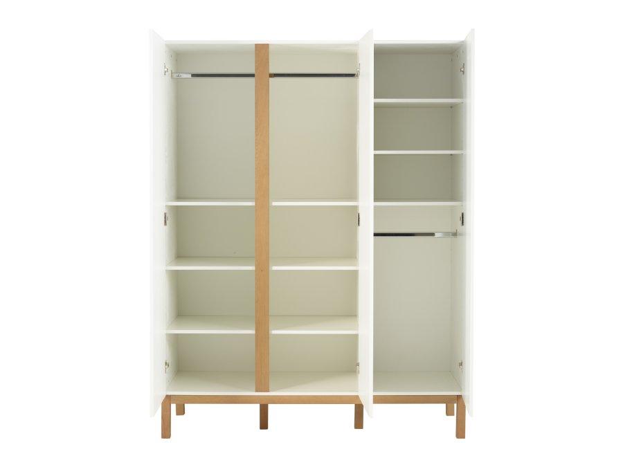 54045414 3D Quax Indigo 3 deurs kledingkast White binnenkant