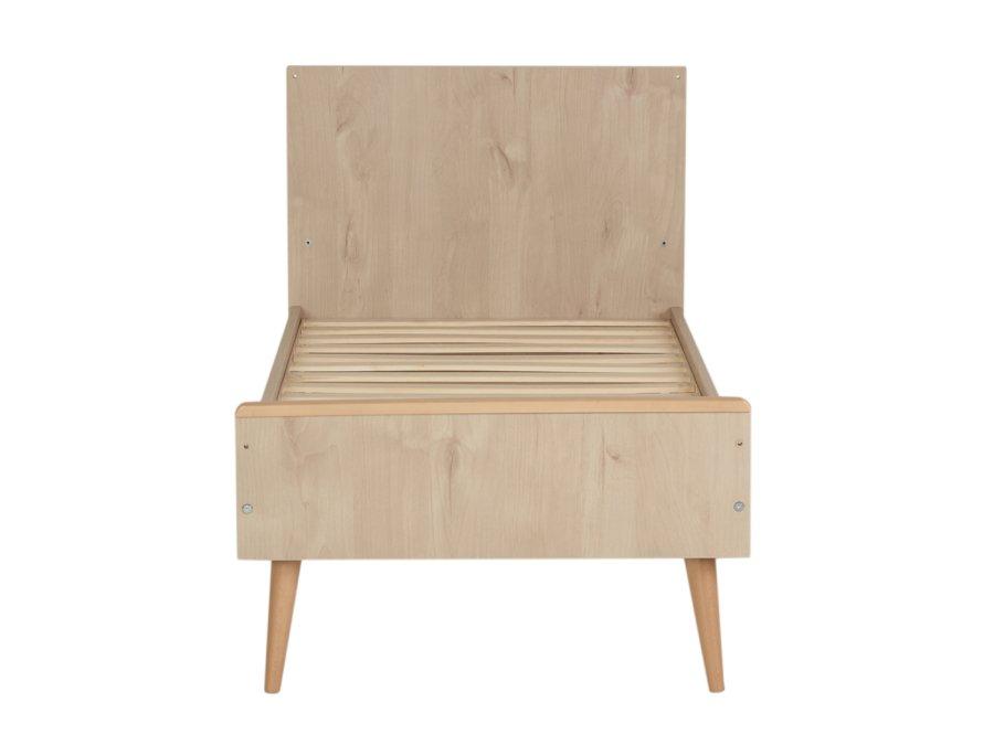 54F01 01XL003 Quax Cocoon ombouwbed 70x140 Natural Oak peuterbed voetenbord