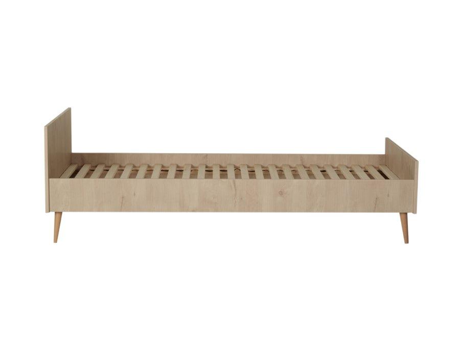 54F01 01XXL003 Quax Cocoon bed 90x200 Natural Oak zijkant