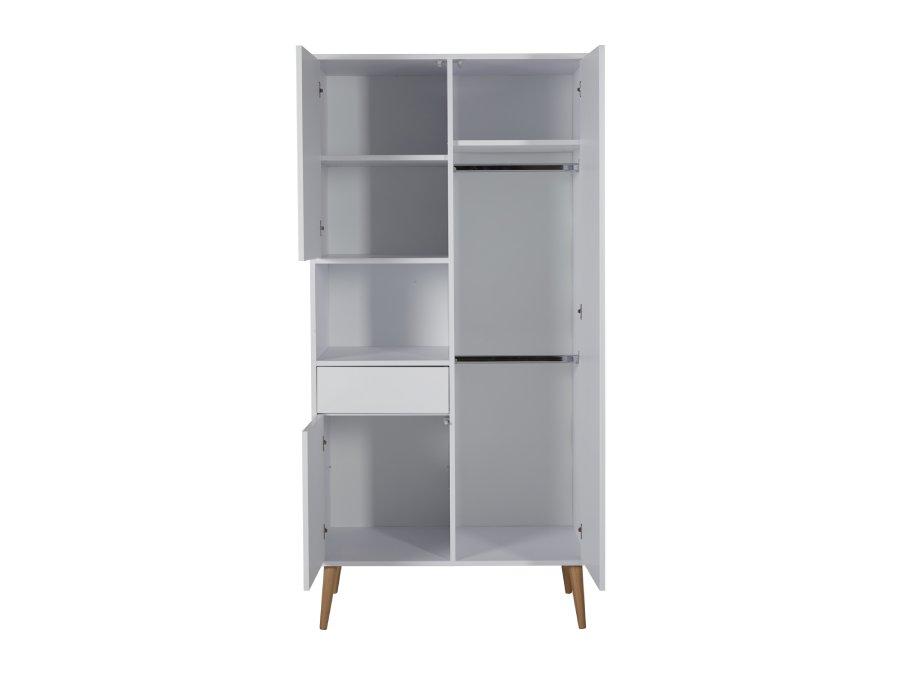54F01 04004 Quax Cocoon kledingkast Ice White binnenkant