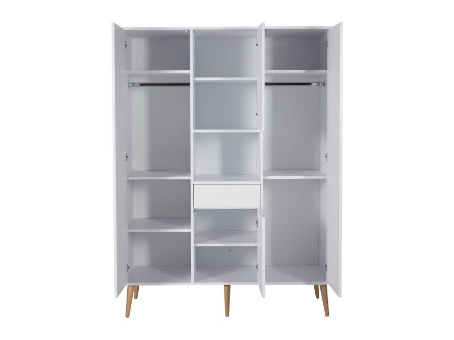 54F01 04004XL Quax Cocoon kledingkast XL Ice White binnenkant