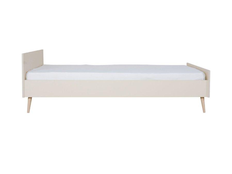 54F02 01XXL001 Quax Flow bed 90x200 Clay Oak matras