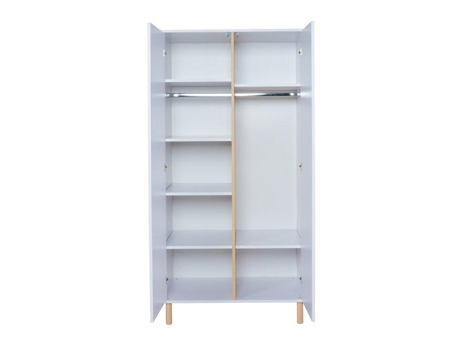 54F03 04003 Quax Mono 2 deurs kledingkast wit binnenkant