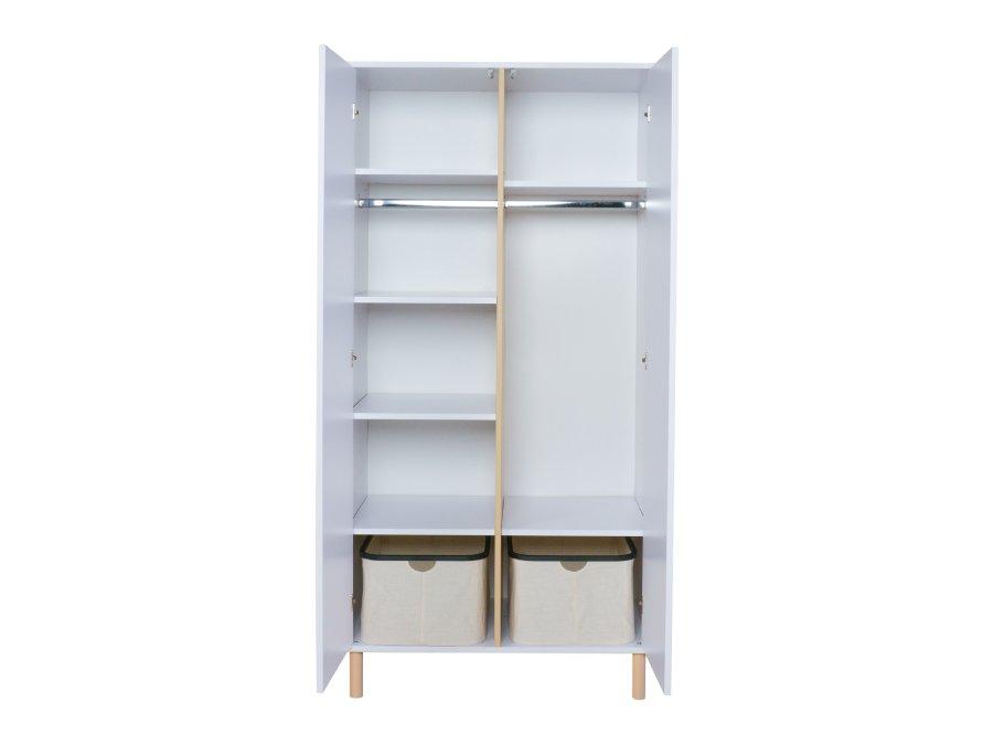 54F03 04003 Quax Mono 2 deurs kledingkast wit mand