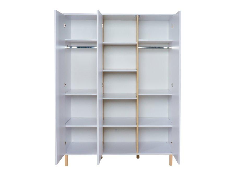 54F03 04003XL Quax Mono 3 deurs kledingkast wit binnenkant