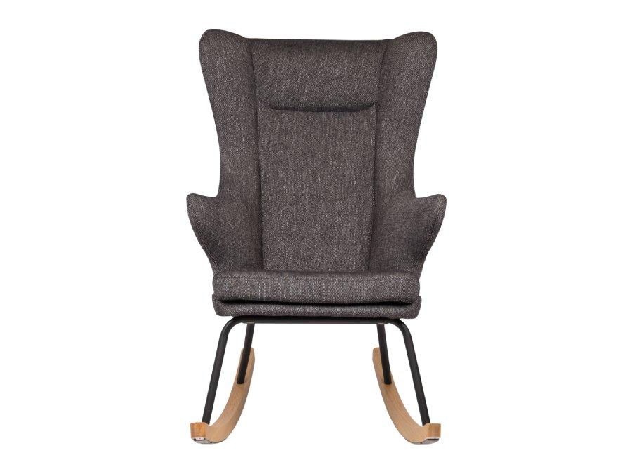 76 16 J1817 BL Quax Rocking schommelstoel adult deluxe black voorkant
