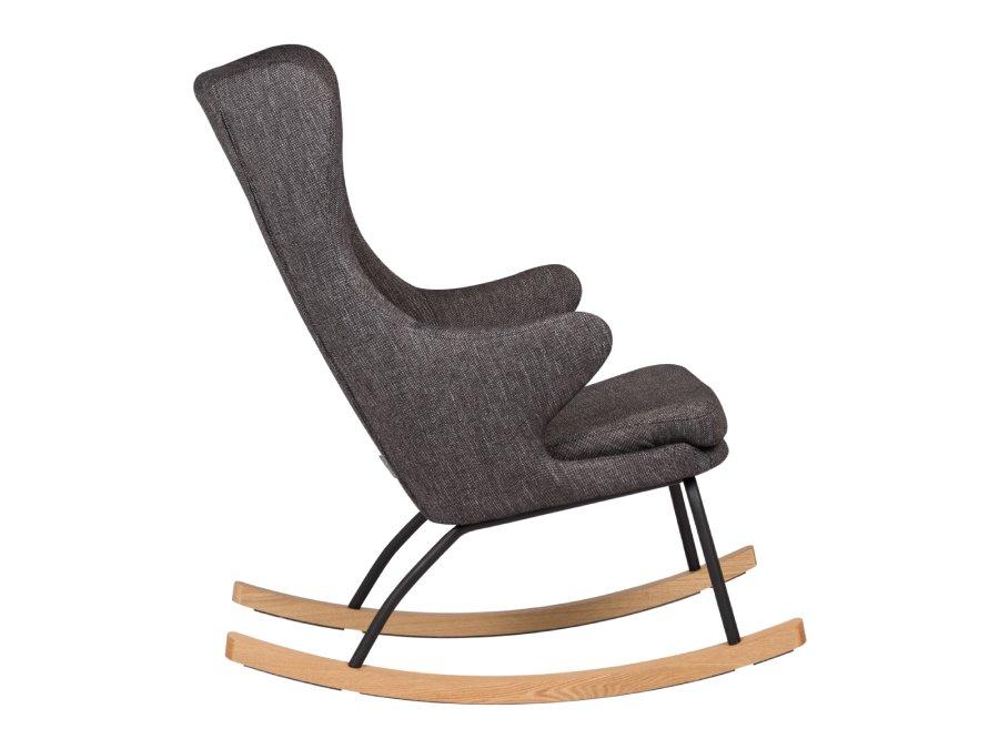 76 16 J1817 BL Quax Rocking schommelstoel adult deluxe black zijkant