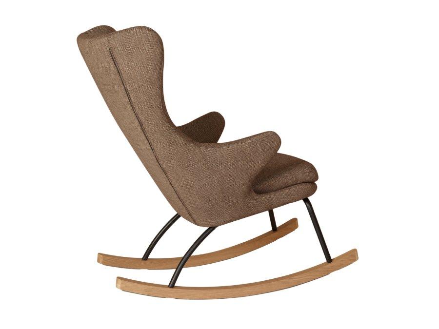 76 16 J1817 LT Quax Rocking schommelstoel adult deluxe latte zijkant