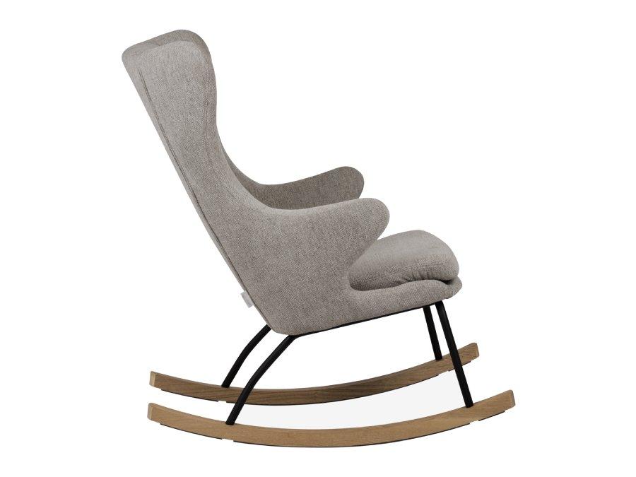 76 16 J1817 SA Quax Rocking schommelstoel adult deluxe sand grey zijkant