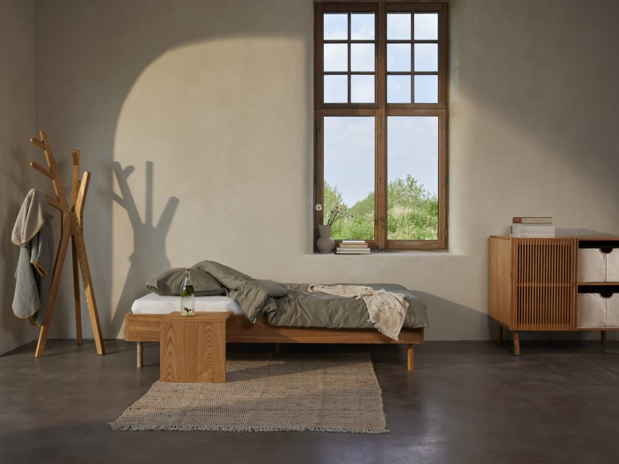 Quax Hai No Ki bed 90x200 Natural Ash sfeer