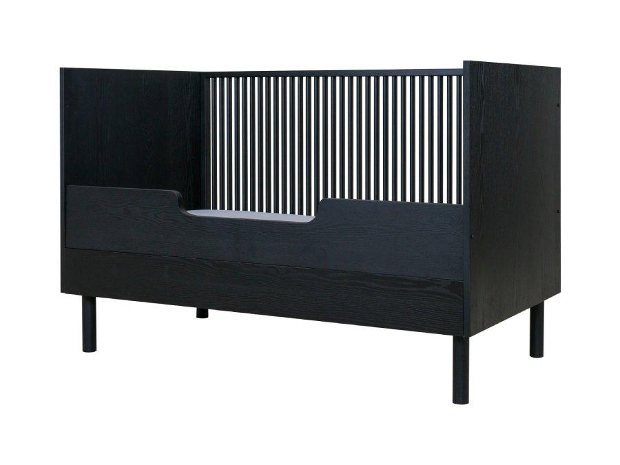 Quax Hai No Ki ombouw bedbank 70x140 Black Ash bedrail