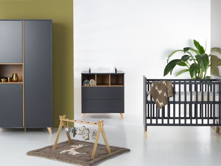 Quax loft babykamer antracite